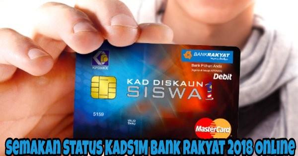 Semakan Status KADS1M Bank Rakyat 2018 Online