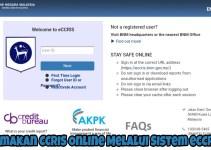 Semakan CCRIS Online Melalui Sistem eCCRIS
