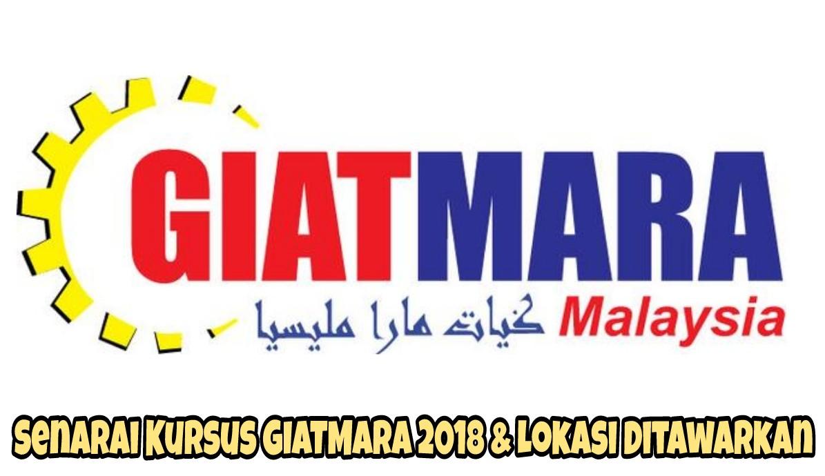 Senarai Kursus GIATMARA 2019 & Lokasi Ditawarkan