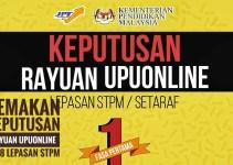 Semakan Keputusan Rayuan UPUOnline 2018 Lepasan STPM