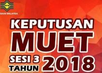 Semakan Keputusan MUET Sesi 3 2018 November Online & SMS