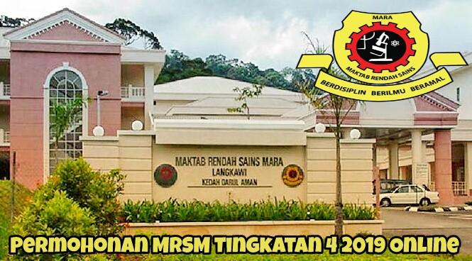 Permohonan MRSM Tingkatan 4 2019 Online