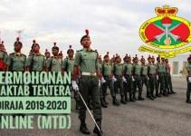 Permohonan Maktab Tentera Diraja 2019-2020 Online (MTD)
