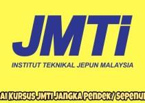 Senarai Kursus JMTI 2019 Program Jangka Pendek/ Sepenuh Masa