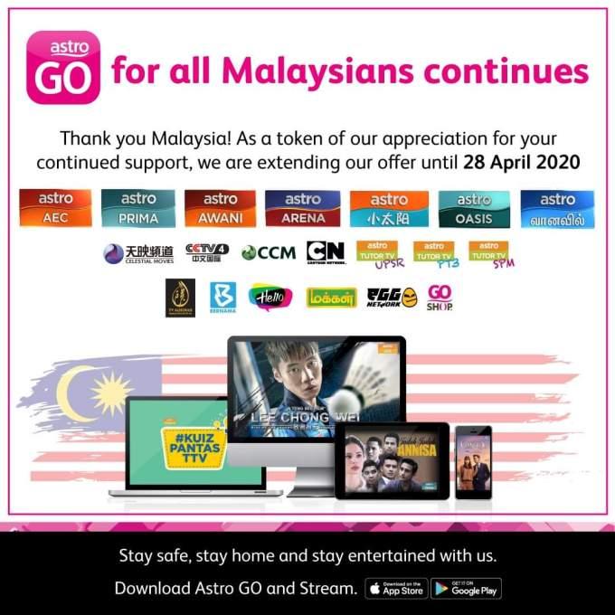 Cara Daftar & Tonton Siaran Astro Go Percuma Untuk Semua Rakyat Malaysia