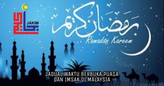 Jadual Waktu Berbuka Puasa dan Imsak 2020 1441H Malaysia (Seluruh Negeri)