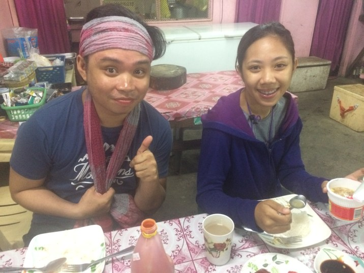 Alex and Rowrow 2 of of the 4 hikers I was blessed to be with during my Visit to Tarak Ridge. Here they are sharing a VERY early breakfast before headed to the jump off