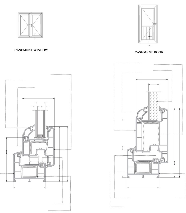 Casement Upvc Windows & doors profile