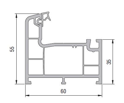 Upvc casement frame profile