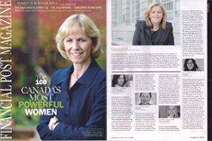 Financial Post Magazine : La DG d'Up With Women nommée l'une des 100 femmes les plus puissantes du Canada