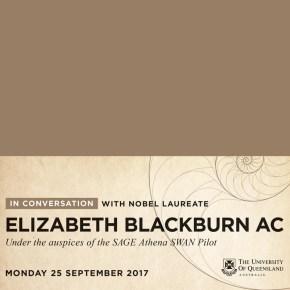 """Dr Dorina Pojani and Dr Teresa Ubide attend """"In conversation with Elizabeth Blackburn"""""""