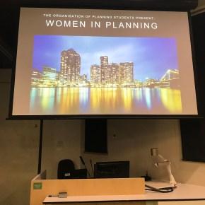 OOPS seminar 'Women in planning'
