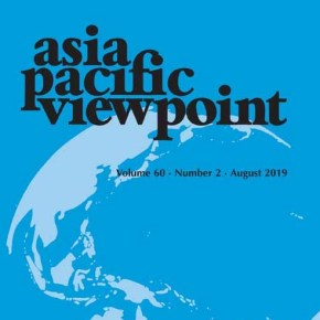 New article in Asia Pacific Viewpoint on urban poverty alleviation strategies in Yogyakarta, by Sonia Roitman