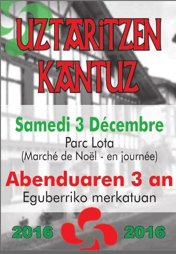 Uztaritzen Kantuz 3 décembre 2016