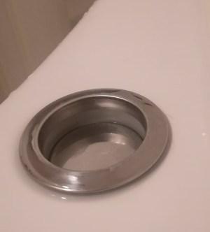 排水ボタンが綺麗になった