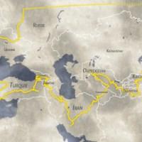 Itinéraire du road-trip à travers l'Europe et l'Asie