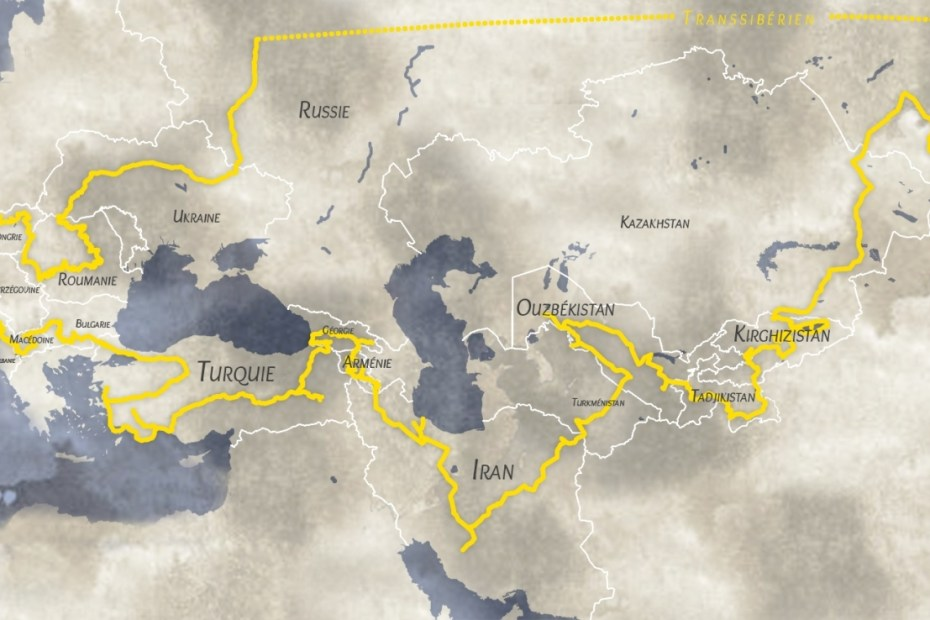 itinéraire de notre Road Trip à travers l'Europe et l'Asie centrale - URALISTAN