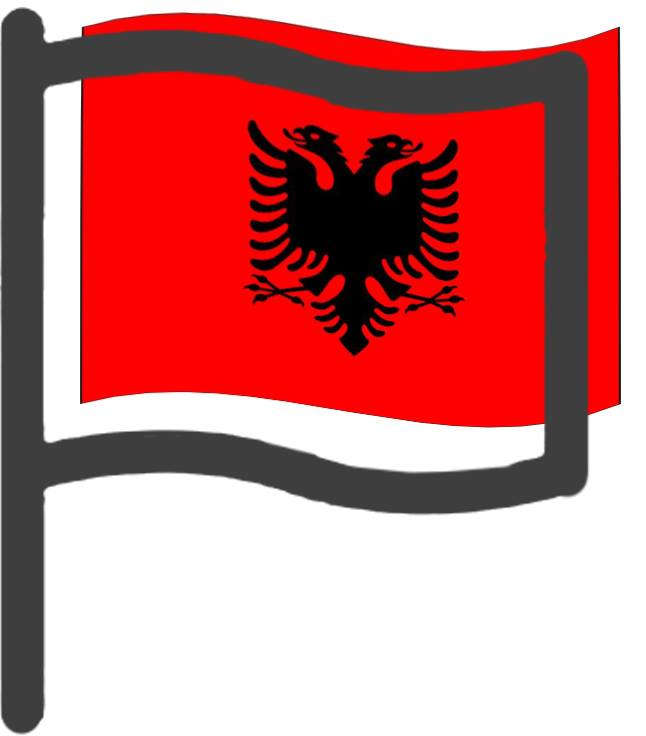 Albanie, drapeau