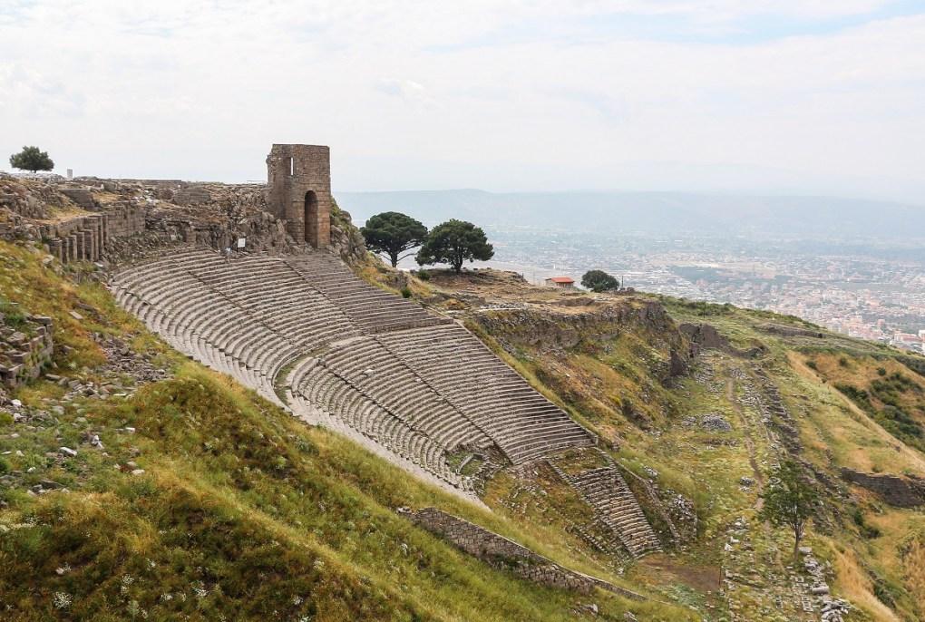 Voyage en Turquie, site archéologique de théatre de Pergame
