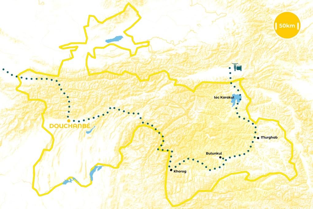 Roadtrip au Tadjikistan - notre itinéraire - URALISTAN