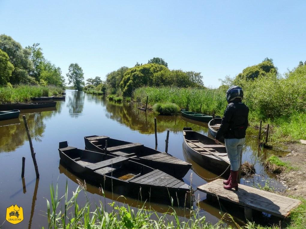 Canal Saint Georges en Brière, Balade du dimanche à moto - URALISTAN