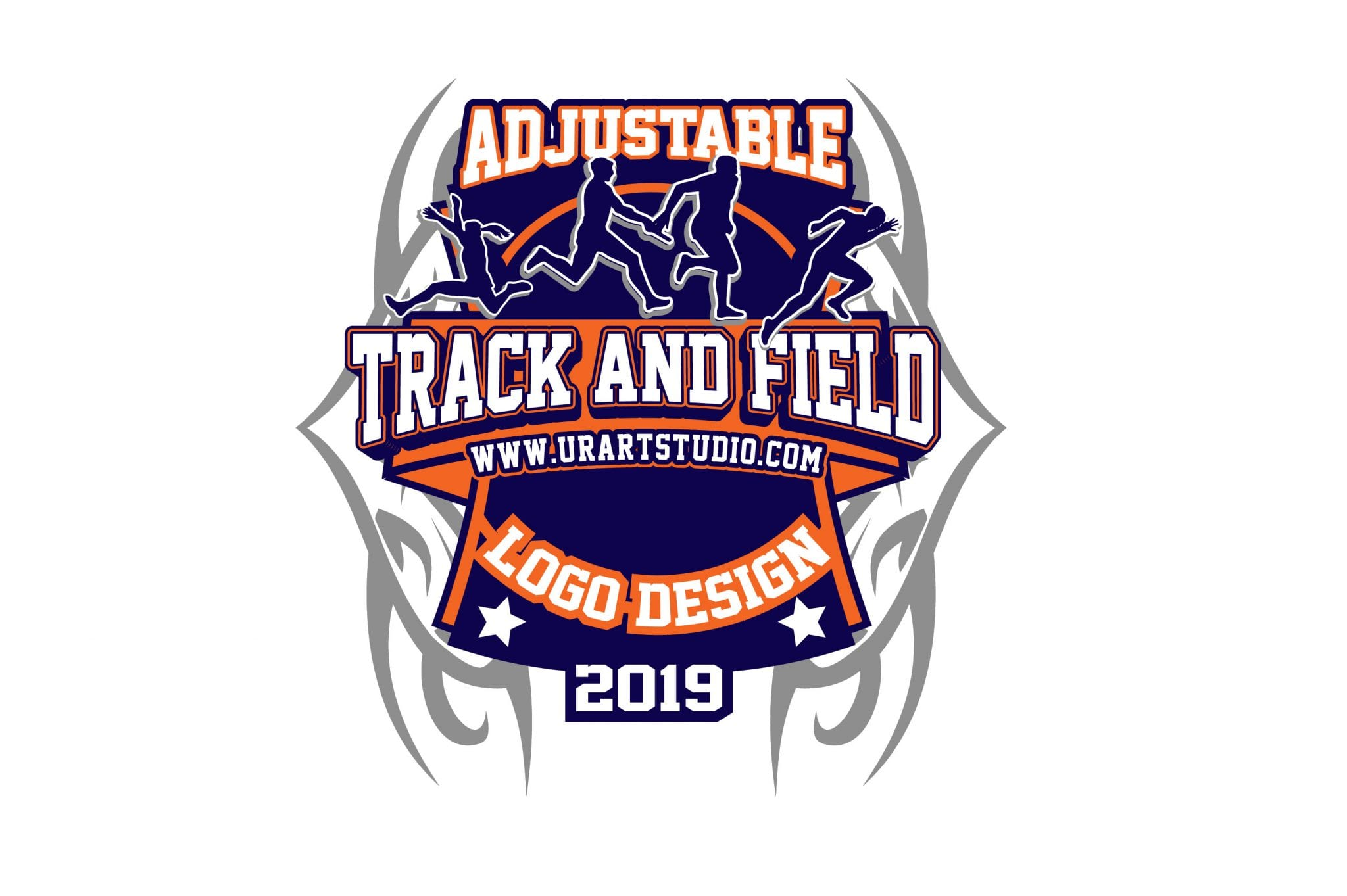 Track And Field Vector Logo Design For Print Ai Eps