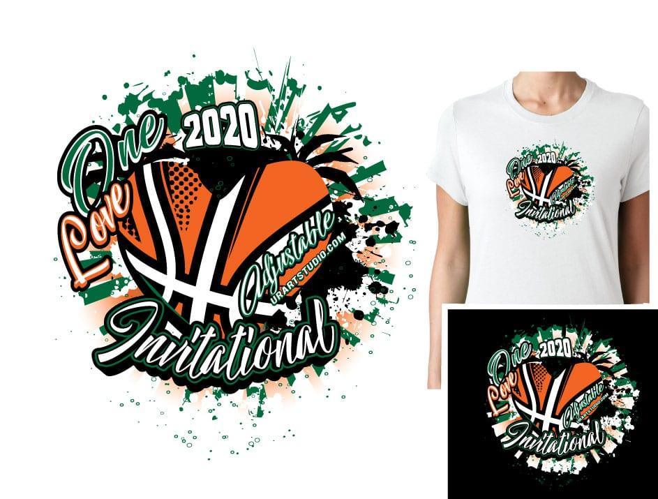 Download BASKETBALL ONE LOVE ADJUSTABLE VECTOR LOGO DESIGN FOR ...