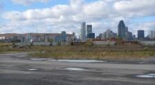 Vue des terrains du CN à Pointe-Saint-Charles