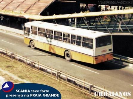 A empresa Praia Grande ficou marcada pelo chassi F112 e F113 da Scania.