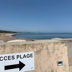 Accès plage de Solenzara