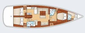 Oceanis 35 Floor Plan