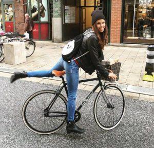 Model on Bike