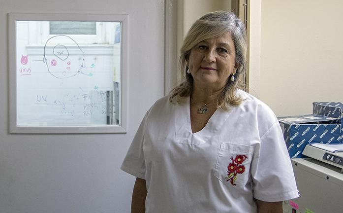 Alicia Cámara viróloga e investigadora del Instituto de Virología de la UNC