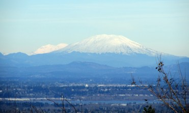 Rainier (l) and St. Helens from Council Crest.