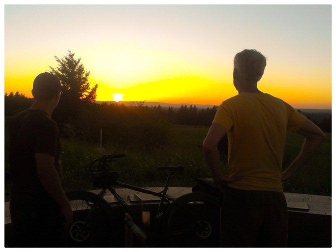 Watching the sun set, Country Bike Ramble