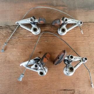 "Shimano BR-MC70 cantilever brakes, Deore ""deerhead"" series."