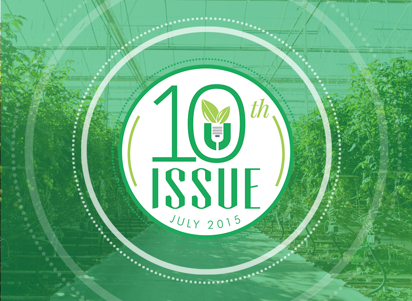 Urban Ag News Issue 10 celebration badge