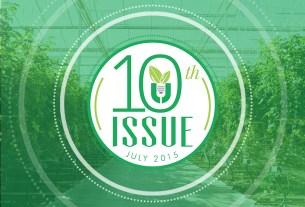 Urban Ag News Issue 10 celebration badge