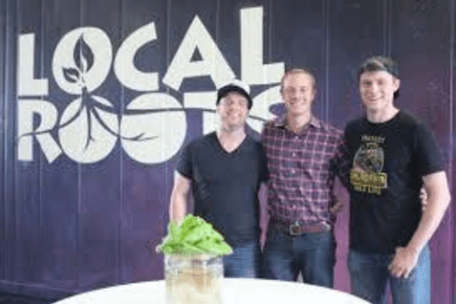 Local Roots Farms Founders – L to R: Matt Vail, Eric Ellestad and Daniel Kuenzi