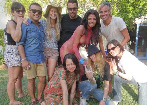 Sherlyn Chopra and the crew!