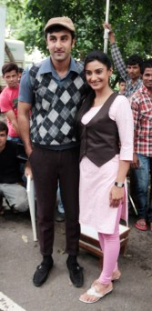 Ranbir Kapoor poses with Rati Pandey of Zee TV's Hitler Didi