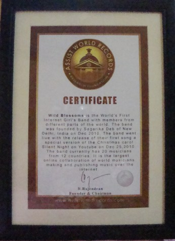 Assist World Records Certificate