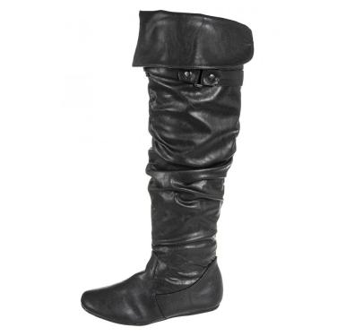 Black PU High Boots