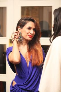Actress and singer Preeya Kalidass at the Manish Malhotra Fashion Fundraiser in London for The Angeli Foundation