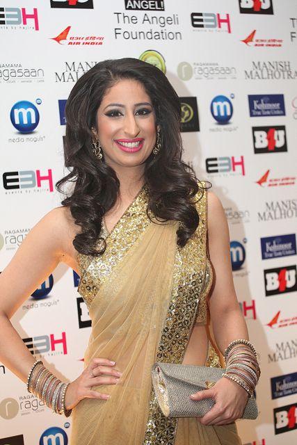 BBC Presenter Anushka Aroro at the Manish Malhotra Fashion Fundraiser in London in aid of The Angeli Foundation