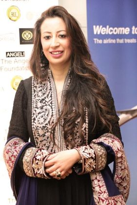 Chair of the UK Chapter of The Angeli Foundation, Ratika Puri Kapur at the Manish Malhotra Fashion Fundraiser for her charity
