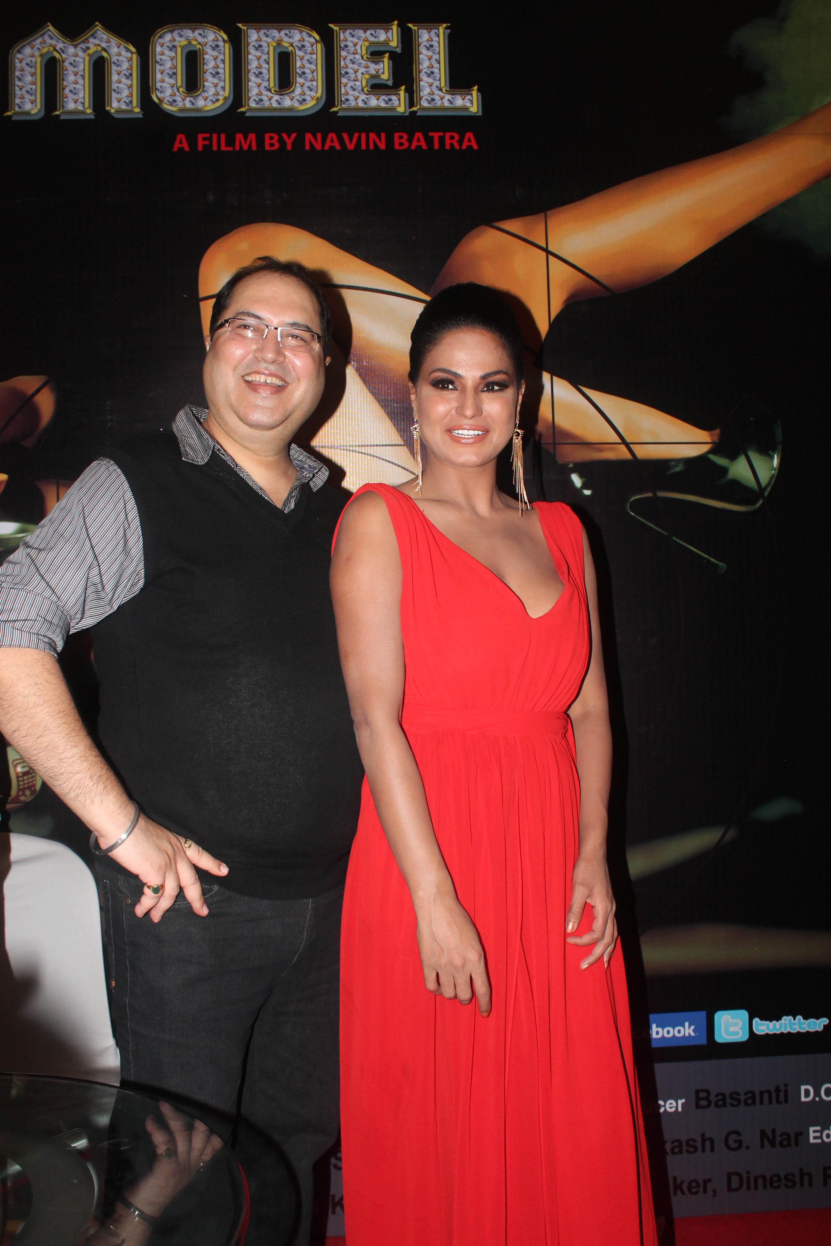 Director Navin Batra With Veena Malik At First Look Of Supermodel1