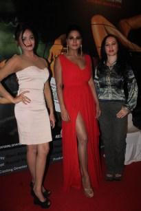 Veena Malik With Ukrarian Actress Nataliya Kozhenova And Model At The Party
