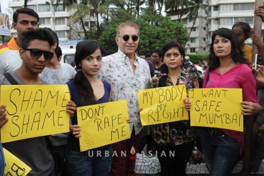 130825_181957Actress Aparna Bajpai Reshma D'souza Actor Dalip Tahil Protest against rape case_