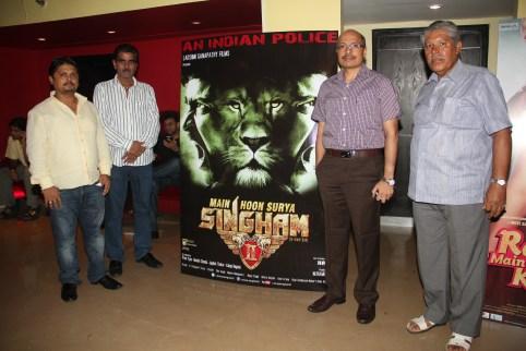 Producer. Chaitannyaswami,S. Lakshman Kumar with DCP Sunil Bhardwaj and Jay Shankar Chanda